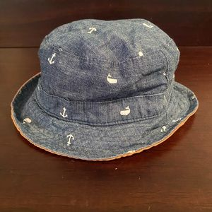Toddler Reversible Nautical Summer Hat